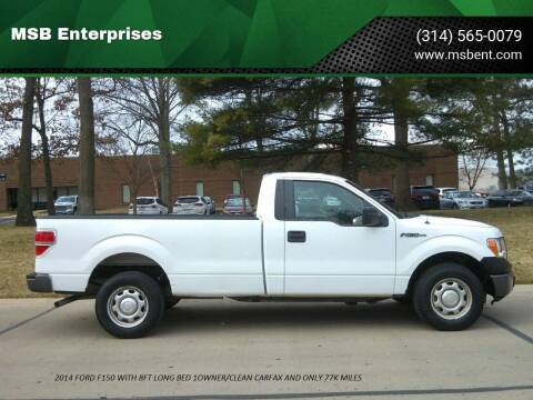 2014 Ford F-150 for sale at MSB Enterprises in Fenton MO