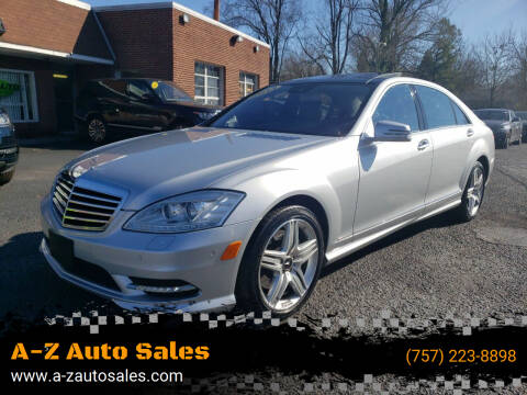 2013 Mercedes-Benz S-Class for sale at A-Z Auto Sales in Newport News VA