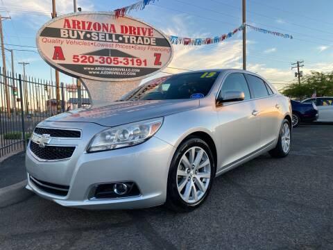 2013 Chevrolet Malibu for sale at Arizona Drive LLC in Tucson AZ
