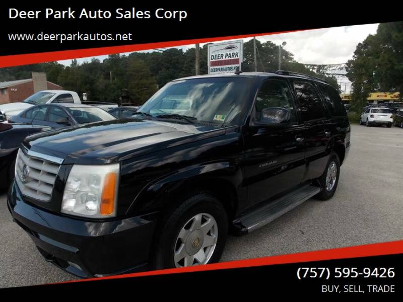 2006 Cadillac Escalade for sale at Deer Park Auto Sales Corp in Newport News VA