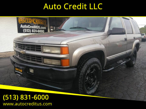 2000 Chevrolet Tahoe Limited/Z71 for sale at Auto Credit LLC in Milford OH