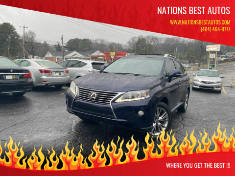 2013 Lexus RX 350 for sale at Nations Best Autos in Decatur GA