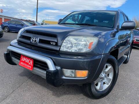 2003 Toyota 4Runner for sale at Superior Auto Sales, LLC in Wheat Ridge CO