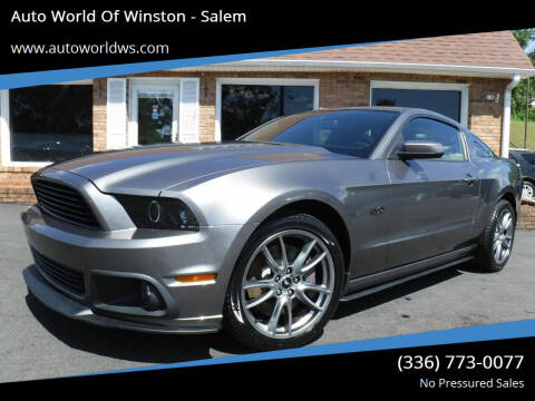 2014 Ford Mustang for sale at Auto World Of Winston - Salem in Winston Salem NC