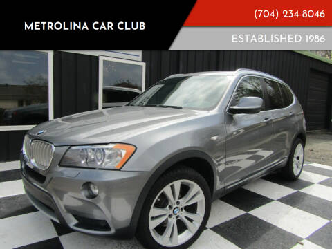 2012 BMW X3 for sale at Metrolina Car Club in Matthews NC