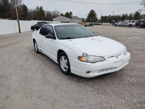 2000 Chevrolet Monte Carlo for sale at Hilltop Auto in Prescott MI