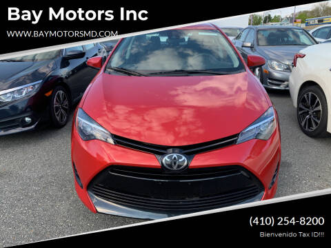 2017 Toyota Corolla for sale at Bay Motors Inc in Baltimore MD