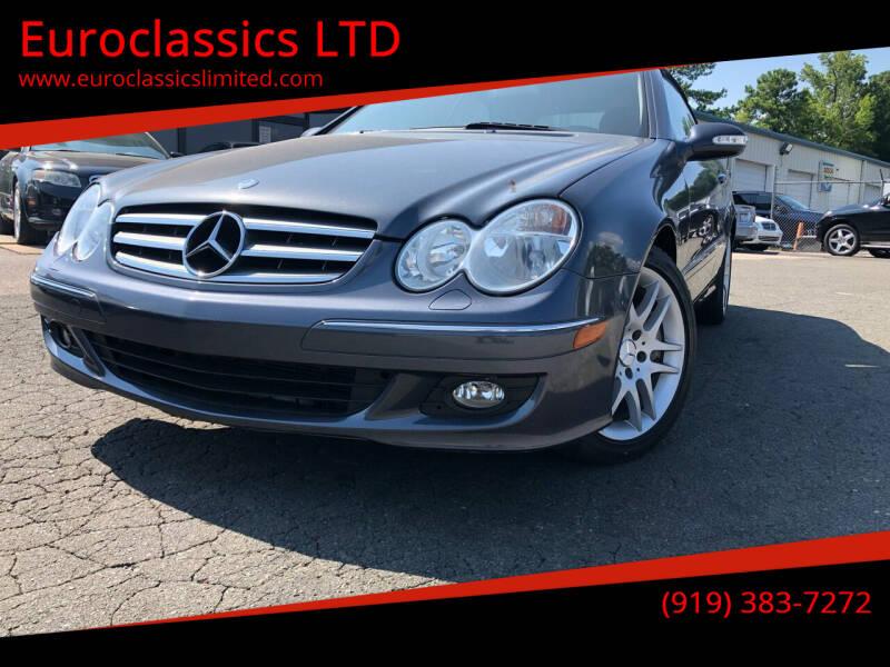 2009 Mercedes-Benz CLK for sale at Euroclassics LTD in Durham NC
