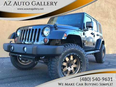 2013 Jeep Wrangler Unlimited for sale at AZ Auto Gallery in Mesa AZ