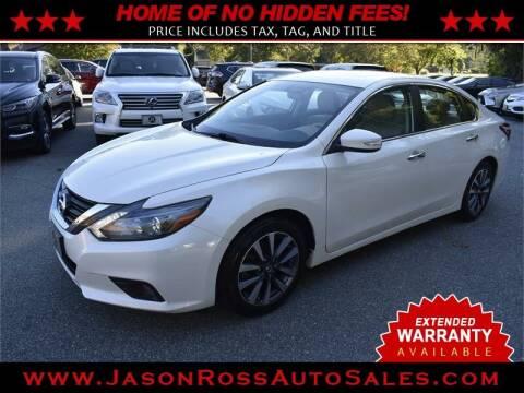 2016 Nissan Altima for sale at Jason Ross Auto Sales in Burlington NC