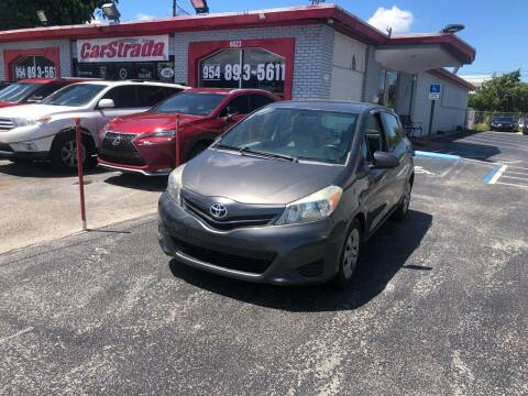 2013 Toyota Yaris for sale at CARSTRADA in Hollywood FL