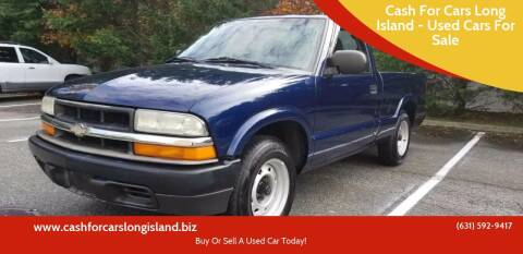 2003 Chevrolet S-10 for sale at Cash For Cars Long Island - Used Cars For Sale in Lindenhurst NY