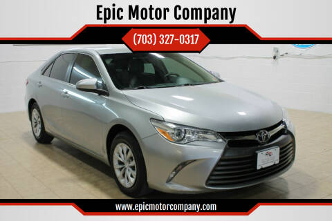 2016 Toyota Camry for sale at Epic Motor Company in Chantilly VA