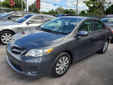 2012 Toyota Corolla for sale at America Auto Wholesale Inc in Miami FL