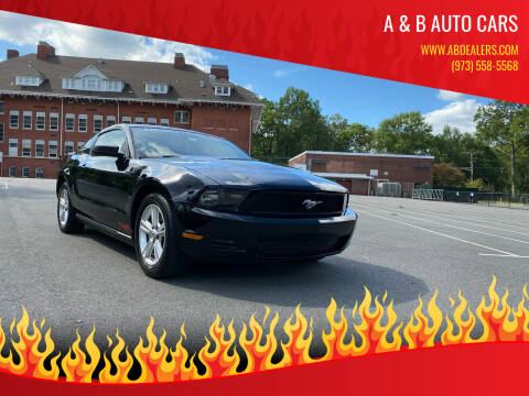 2012 Ford Mustang for sale at A & B Auto Cars in Newark NJ