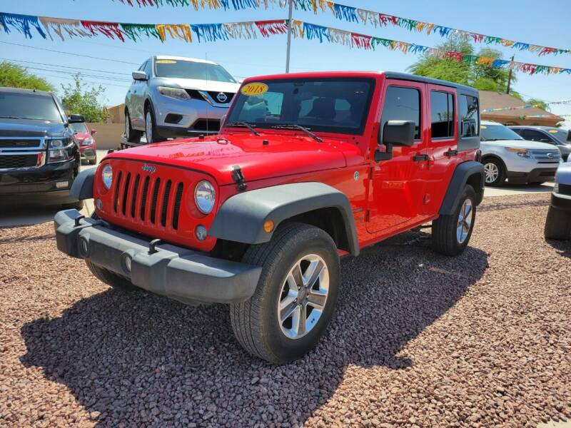 2018 Jeep Wrangler JK Unlimited for sale at A AND A AUTO SALES in Gadsden AZ