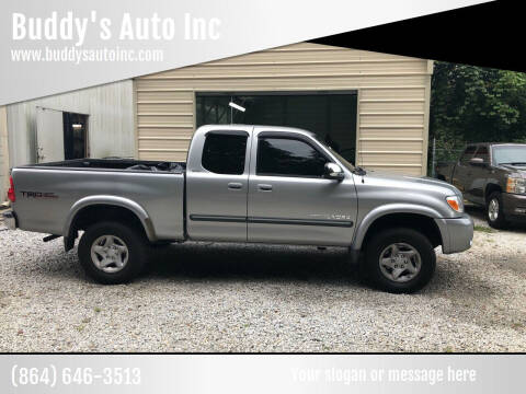 2006 Toyota Tundra for sale at Buddy's Auto Inc in Pendleton SC