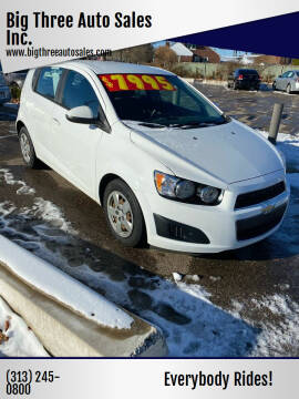 2016 Chevrolet Sonic for sale at Big Three Auto Sales Inc. in Detroit MI