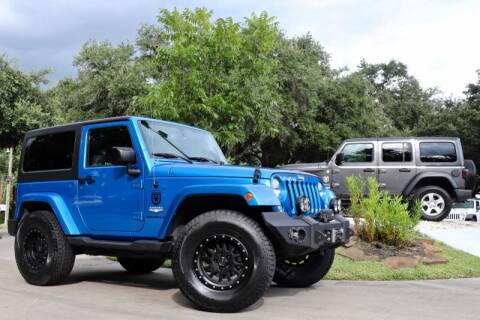 2015 Jeep Wrangler for sale at SELECT JEEPS INC in League City TX