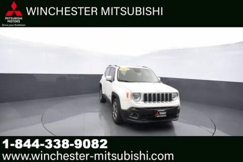 2015 Jeep Renegade for sale at Winchester Mitsubishi in Winchester VA