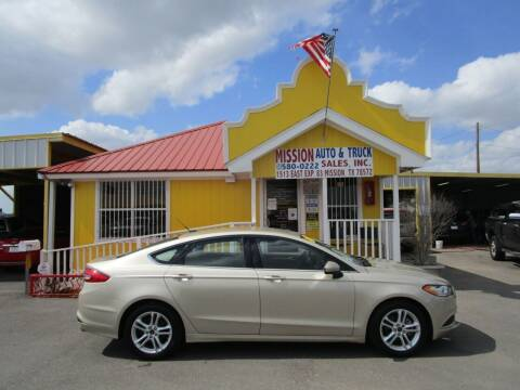 2018 Ford Fusion for sale at Mission Auto & Truck Sales, Inc. in Mission TX
