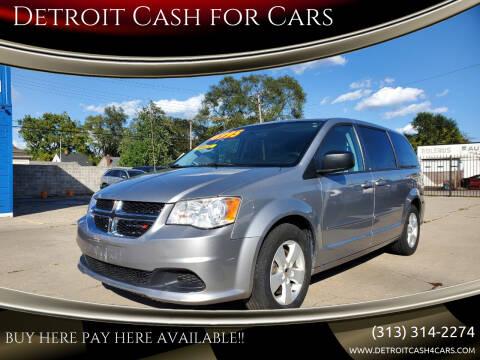 2013 Dodge Grand Caravan for sale at Detroit Cash for Cars in Warren MI