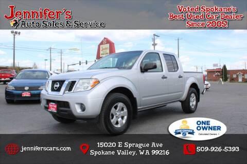 2012 Nissan Frontier for sale at Jennifer's Auto Sales in Spokane Valley WA