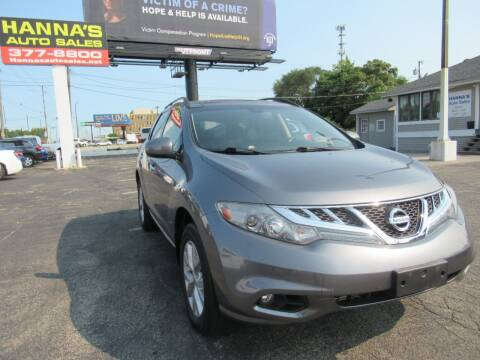2013 Nissan Murano for sale at Hanna's Auto Sales in Indianapolis IN