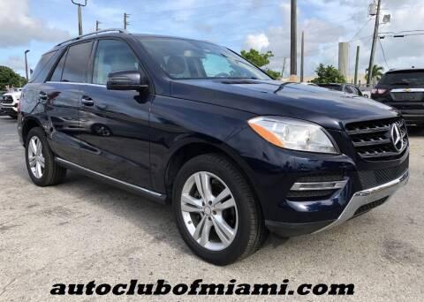 2015 Mercedes-Benz M-Class for sale at AUTO CLUB OF MIAMI in Miami FL