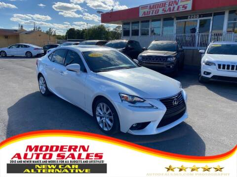 2016 Lexus IS 200t for sale at Modern Auto Sales in Hollywood FL