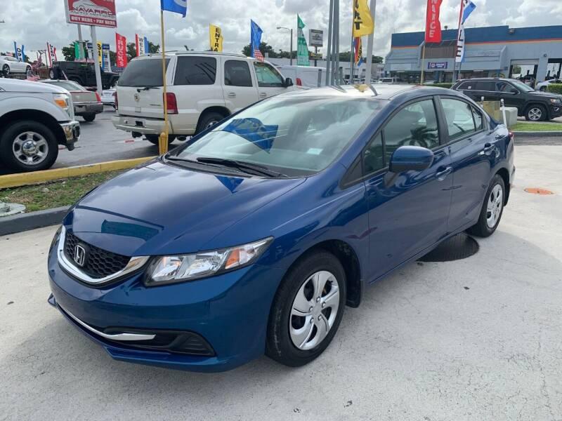 2015 Honda Civic for sale at Navarro Auto Motors in Hialeah FL