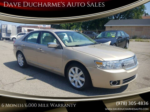 2007 Lincoln MKZ for sale at Dave Ducharme's Auto Sales in Lowell MA
