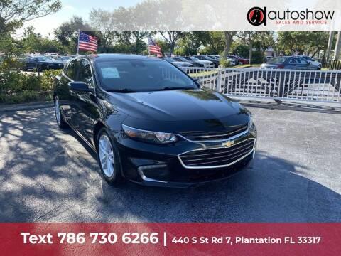 2017 Chevrolet Malibu for sale at AUTOSHOW SALES & SERVICE in Plantation FL