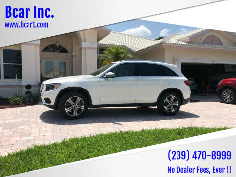 2019 Mercedes-Benz GLC for sale at Bcar Inc. in Fort Myers FL