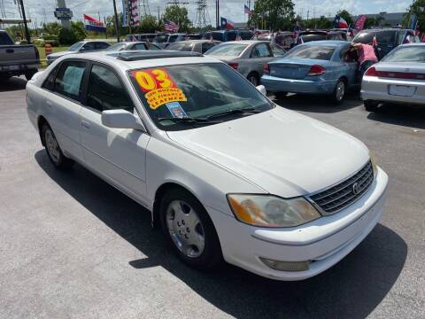 2003 Toyota Avalon for sale at Texas 1 Auto Finance in Kemah TX