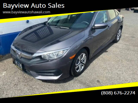 2017 Honda Civic for sale at Bayview Auto Sales in Waipahu HI
