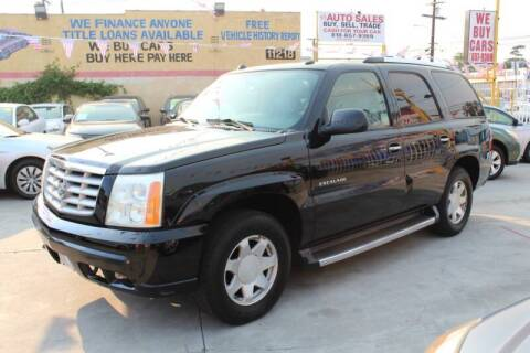 2005 Cadillac Escalade for sale at Good Vibes Auto Sales in North Hollywood CA