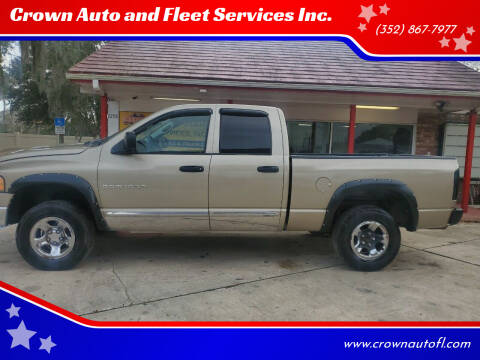 2004 Dodge Ram Pickup 1500 for sale at Crown Auto and Fleet Services Inc. in Ocala FL