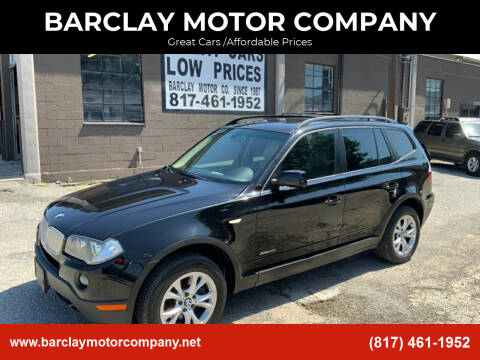 2009 BMW X3 for sale at BARCLAY MOTOR COMPANY in Arlington TX