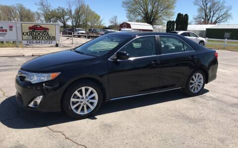 2012 Toyota Camry for sale at Cordova Motors in Lawrence KS