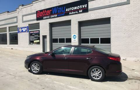 2013 Kia Optima for sale at Betterway Automotive Inc - of Auburn in Auburn NE