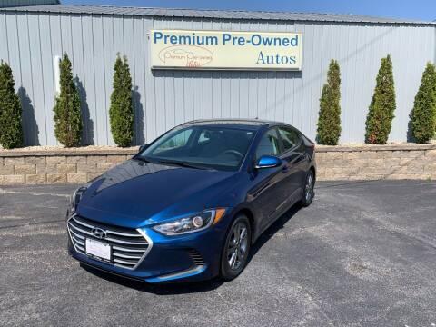 2018 Hyundai Elantra for sale at PREMIUM PRE-OWNED AUTOS in East Peoria IL