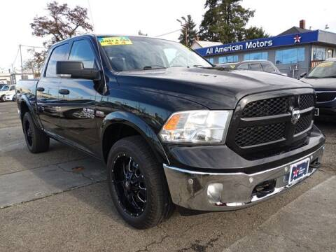 2017 RAM Ram Pickup 1500 for sale at All American Motors in Tacoma WA