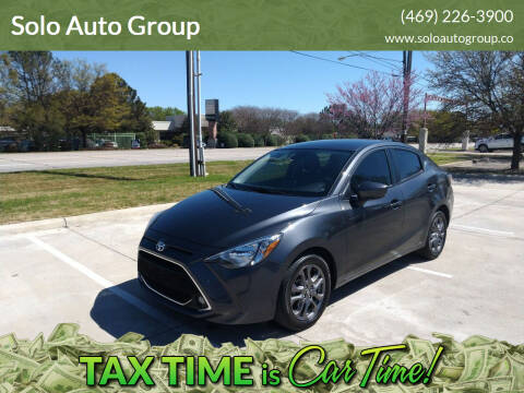 2019 Toyota Yaris for sale at Solo Auto Group in Mckinney TX