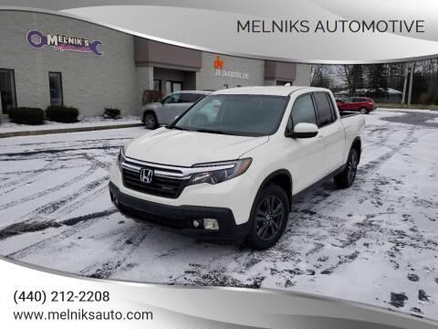 2018 Honda Ridgeline for sale at Melniks Automotive in Berea OH