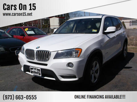 2012 BMW X3 for sale at Cars On 15 in Lake Hopatcong NJ