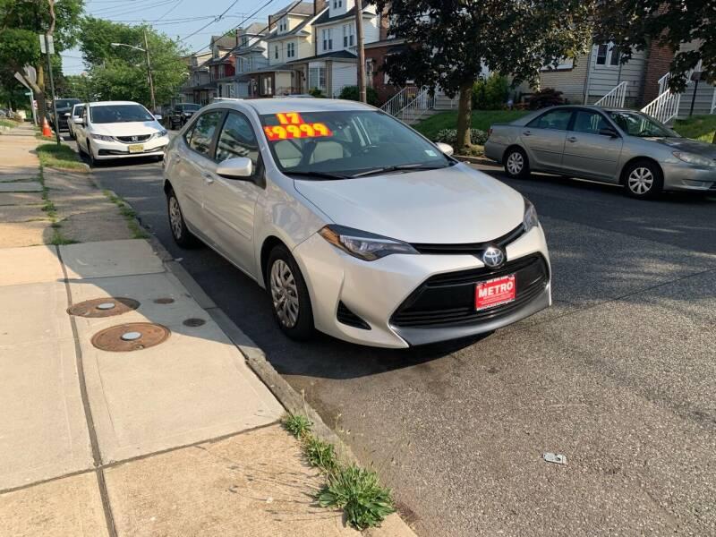 2017 Toyota Corolla for sale at Metro Auto Exchange 2 in Linden NJ