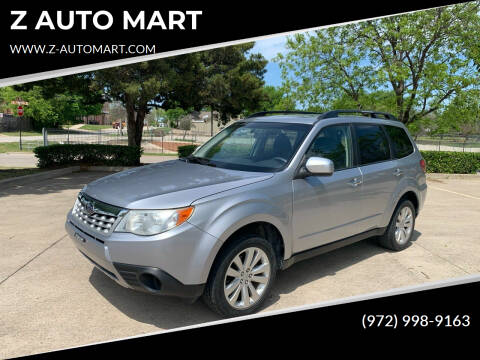 2013 Subaru Forester for sale at Z AUTO MART in Lewisville TX
