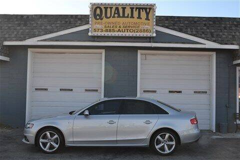 2012 Audi A4 for sale at Quality Pre-Owned Automotive in Cuba MO