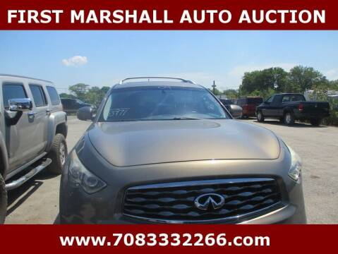 2009 Infiniti FX35 for sale at First Marshall Auto Auction in Harvey IL
